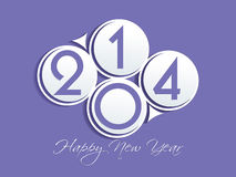New year 2014 background. Vector illustration Stock Image