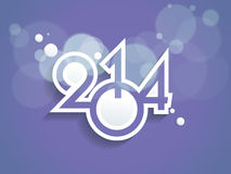 New year 2014 background. Vector illustration Stock Photo