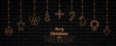 New Year background. stock illustration