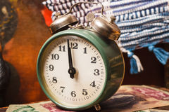 New Year Background. Vintage clock Stock Photography