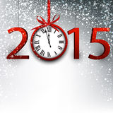 2015 new year background. 2015 new year background with vintage clock. Vector illustration Royalty Free Stock Photography