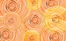 New Year background with vortex circles of orange, yellow and white shades Stock Photography