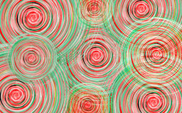 New Year background with whirlwind circles of red and green shades Stock Images