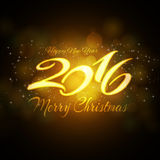 2016 New Year background for your invitation or greetings card Stock Images