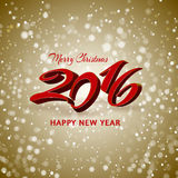 2016 New Year background. For your invitation or greetings card design Stock Photos