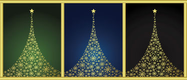 New year backgrounds. Backgrounds with new year tree Stock Images