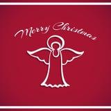 New Year Badge Angel Stock Photo