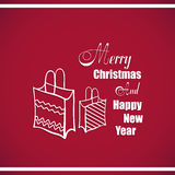 New Year Badge Gifts Royalty Free Stock Photo