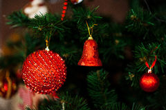 New year. Ball bell toy decor decoration background holiday tree Christmas Stock Images