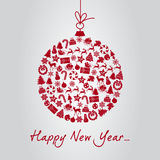 Happy new year greeting card vector illustration royalty free illustration