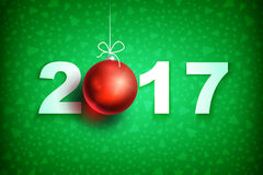 New year 2017 ball3-01 Stock Photos