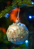 New Year ball. New Year  toy on the new year tree Royalty Free Stock Images