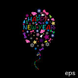 New Year Balloon Stock Images
