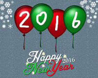 New Year on Balloon background Stock Images