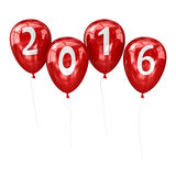 New year 2016 balloon. 3d render and computer generated image Stock Image
