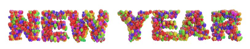 New Year from Balloons Royalty Free Stock Photography