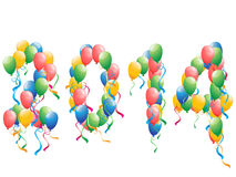 2014 new year balloons background Stock Photo