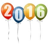 New Year 2016 balloons. Colored balloons with numbers for New Year 2016 vector illustration