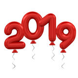 New Year balloons Stock Photography