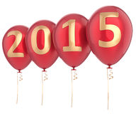 2015 New Year balloons party decoration Stock Photography