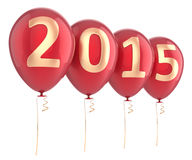 New 2015 Year balloons party decoration Royalty Free Stock Images