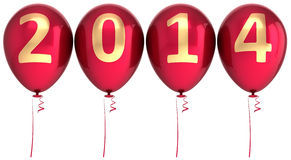2014 New Year balloons party decoration Stock Photography