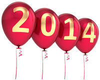 New 2014 Year balloons party decoration Stock Images