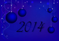 New Year. 2014 with balls Stock Image