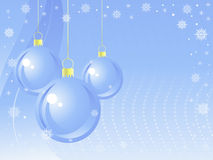 New Year balls background. Royalty Free Stock Images
