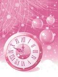 New Year balls background. Stock Photos