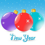 New Year Balls Stock Image