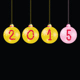 New year 2015 balls color vector Royalty Free Stock Photo