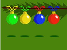 New year balls royalty free illustration
