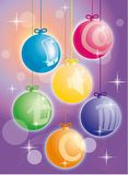 New year icons-balls Royalty Free Stock Photo