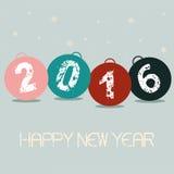 New Year Balls Royalty Free Stock Photos