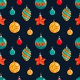 New year balls pattern illustration set watercolor. New year balls pattern illustration vector illustration