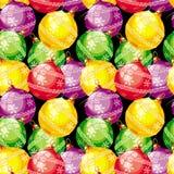 New Year balls pattern Royalty Free Stock Photo