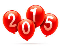 New Year baloons. Royalty Free Stock Photography