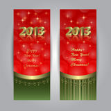 New Year baners Stock Photography