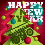 New Year banner. Modern designed New Year banner royalty free illustration