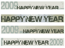 New year banner 2009. New year 2009 banner grunge style Stock Photos