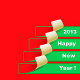 New Year banner. In red-green colors stock illustration