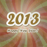New Year banner. In vintage style stock illustration