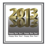 New Year banner. In graphic style Stock Image