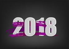 2018 new year banner. Abstract new 2018 year banner. Greeting paint splash modern banner. Winter lilac greeting poster. Vector colored new Year invitation. Blob Royalty Free Stock Photo