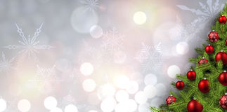 New Year banner with Christmas tree. Royalty Free Stock Photo