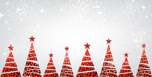 New Year banner with Christmas trees. vector illustration