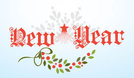 New Year Banner. In Fancy Script Text Royalty Free Stock Photos