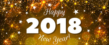 New Year 2018 banner Stock Images