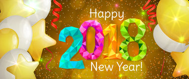 New Year 2018 banner Stock Photos